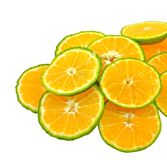 Chopped orange pieces Royalty Free Stock Photos