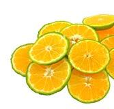Chopped orange pieces Royalty Free Stock Photos