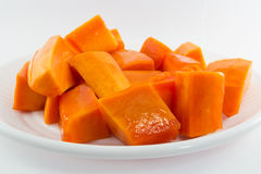 Chopped Papaya Fruit Royalty Free Stock Image