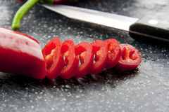 Chopped paprika royalty free stock photography