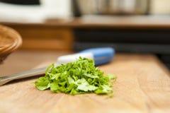 Chopped parsley Royalty Free Stock Image