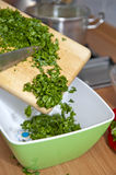 Chopped parsley Stock Photo