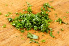 Chopped parsley Stock Photography