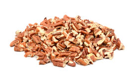 Chopped pecan nuts stock photos