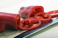 Chopped peppers Royalty Free Stock Photography