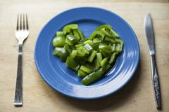 Chopped peppers in a heart shape Stock Images