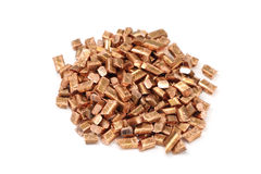Chopped pieces of copper Stock Photos