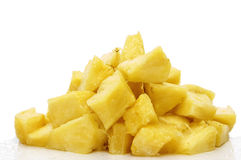 Chopped pineapple Royalty Free Stock Images
