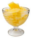Chopped pineapple Stock Photo