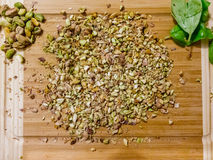 Chopped pistachio nuts Royalty Free Stock Images