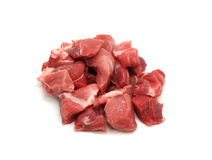 Chopped pork meat. Isolated on white background Royalty Free Stock Photography