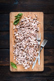 Chopped pork meat Royalty Free Stock Images