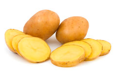 Chopped potato Stock Photo