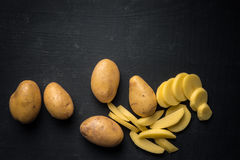 Chopped Potatoes Royalty Free Stock Images