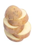 Chopped potatoes Stock Image