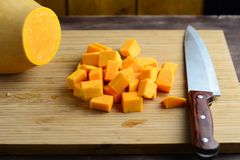 Chopped pumpkin Stock Image