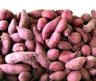 Chopped Purple Japanese Sweet Potatos.  Stock Photos