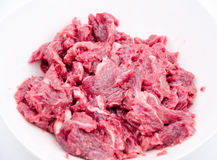 Chopped Raw beef royalty free stock photography
