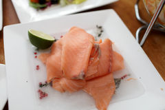 Chopped raw fish Stock Image