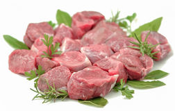 Chopped raw meat isolated Stock Photography