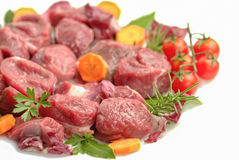 Chopped raw meat isolated Royalty Free Stock Images