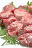 Chopped raw meat isolated Royalty Free Stock Photos