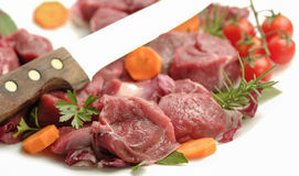 Chopped raw meat isolated Stock Photo