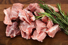 Chopped raw meat Royalty Free Stock Photos