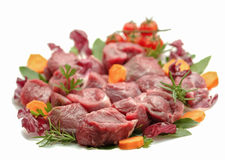 Chopped raw meat Stock Photography
