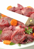 Chopped raw meat Royalty Free Stock Images