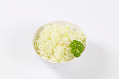 Chopped raw onion Stock Images