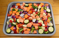 Chopped raw vegetables - suitable for roasting Stock Photo