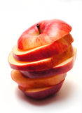 Chopped red apple Stock Images
