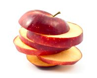 Chopped red apple slices Royalty Free Stock Photo