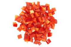 Chopped Red Bell Pepper Royalty Free Stock Photos