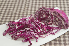 Chopped red cabbage Stock Image