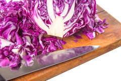 Chopped Red Cabbage IX Royalty Free Stock Photography