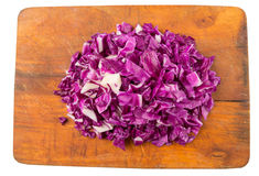 Chopped Red Cabbage VIII Royalty Free Stock Photography