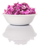 Chopped Red Cabbage In White Bowl III Stock Images