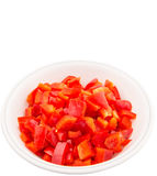 Chopped Red Capsicums II Royalty Free Stock Images