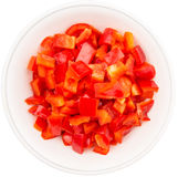 Chopped Red Capsicums III Royalty Free Stock Image