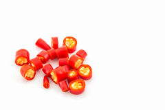 Chopped red chili. Stock Image