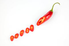 Chopped red chilli Royalty Free Stock Photography