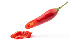 Chopped red chilli Stock Images