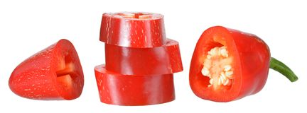 Chopped red jalapeno pepper Stock Images