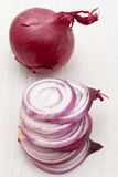 Chopped red onion Royalty Free Stock Photography