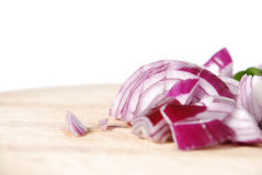 Chopped red onion Royalty Free Stock Photo