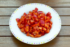 Chopped red pepper Stock Image