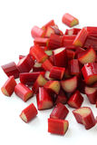 Chopped red rhubarb Stock Images