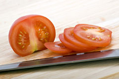 Chopped red tomatoes Stock Images